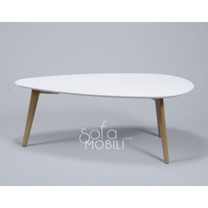 Table basse tripode scandinave