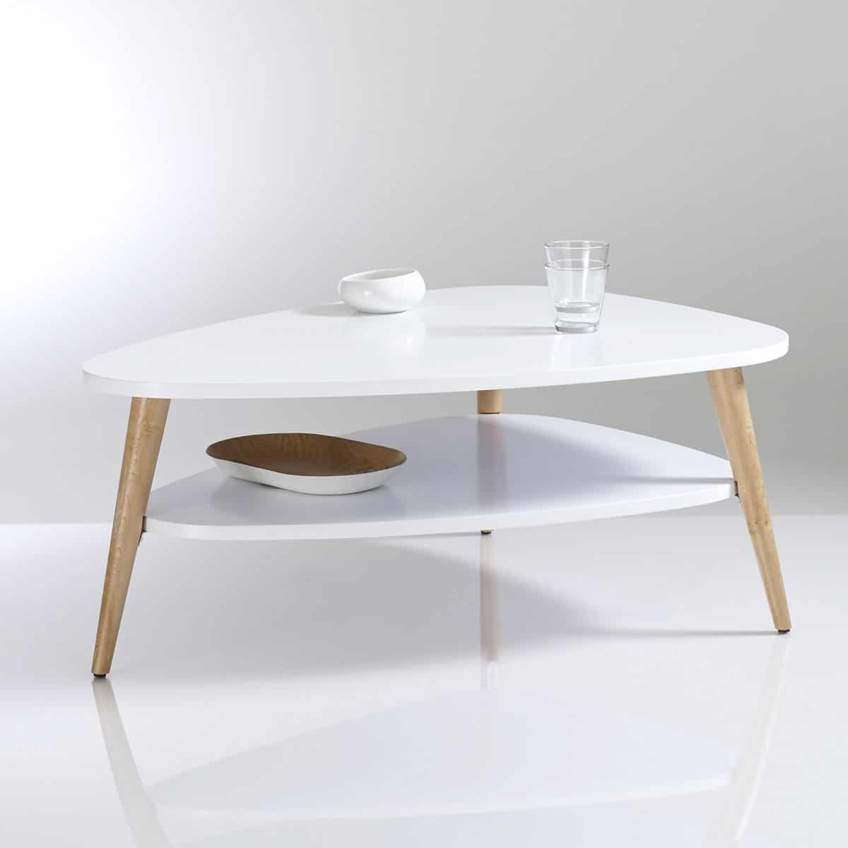 Table basse style scandinave blanche