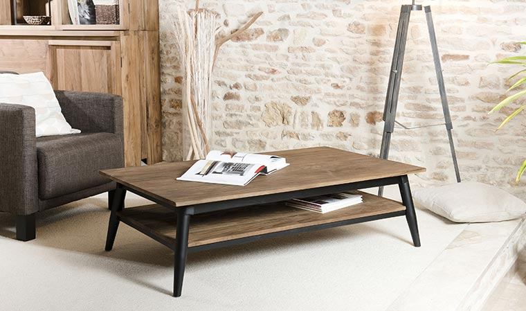 Salon table basse scandinave