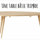 Table basse style scandinave bois