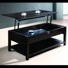 Table basse relevable 2 allonges noir/gris studio