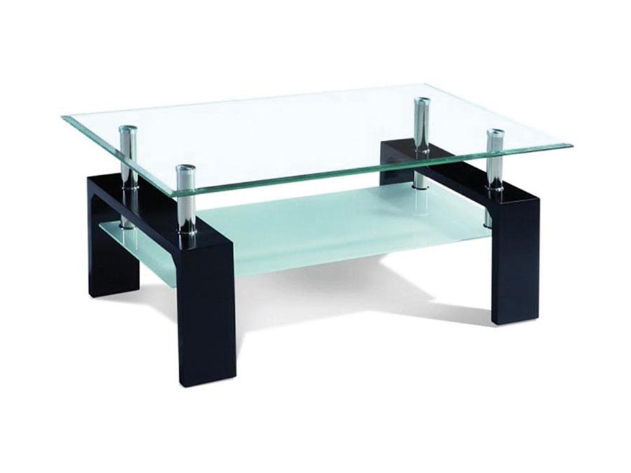 Glass table basse en verre noir
