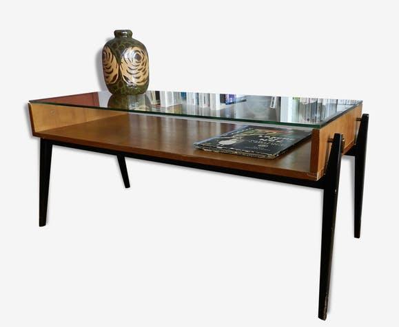 Table basse rétro bois