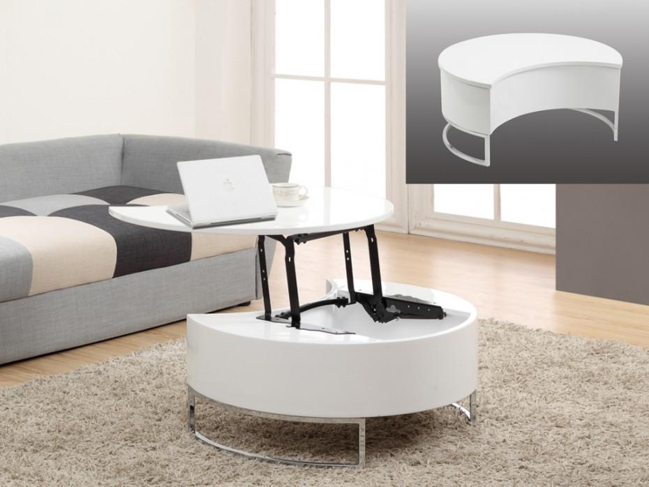 Table basse avec 2 plateau relevable
