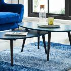 Table basse scandinave bleu foncé