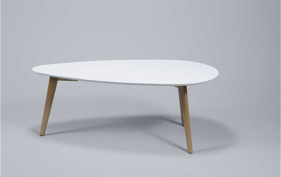 Table basse style scandinave ovale