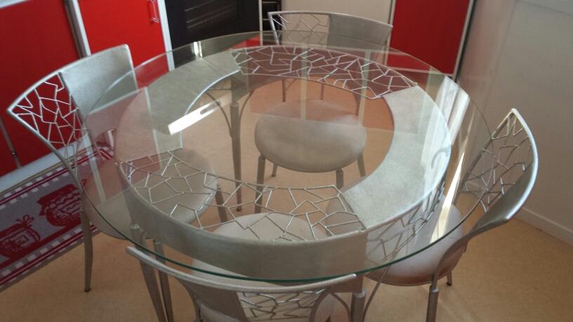 Table basse bois et verre crozatier
