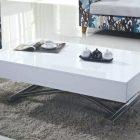 Table basse de salon blanche scandinave – pristina