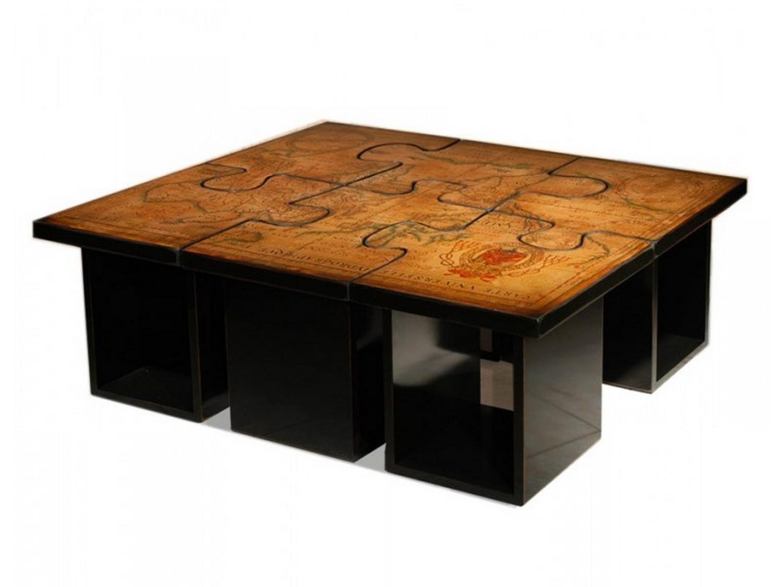Table basse bois originale pas cher