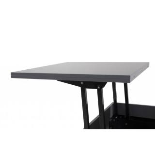 Table basse relevable extensible giani grise