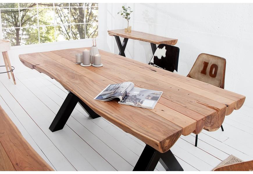 Table basse carre metal et bois