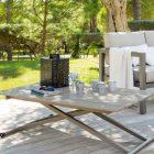 Table basse de jardin relevable