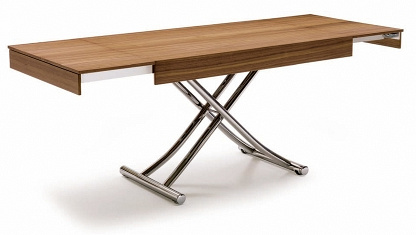 Table basse réhaussable bois