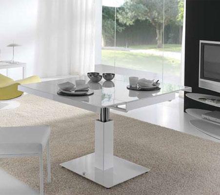 Table basse relevable carré
