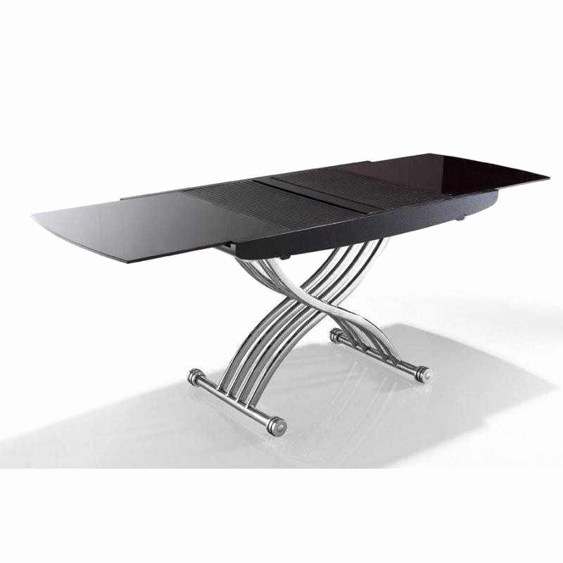 Table basse relevable extensible ella wenge