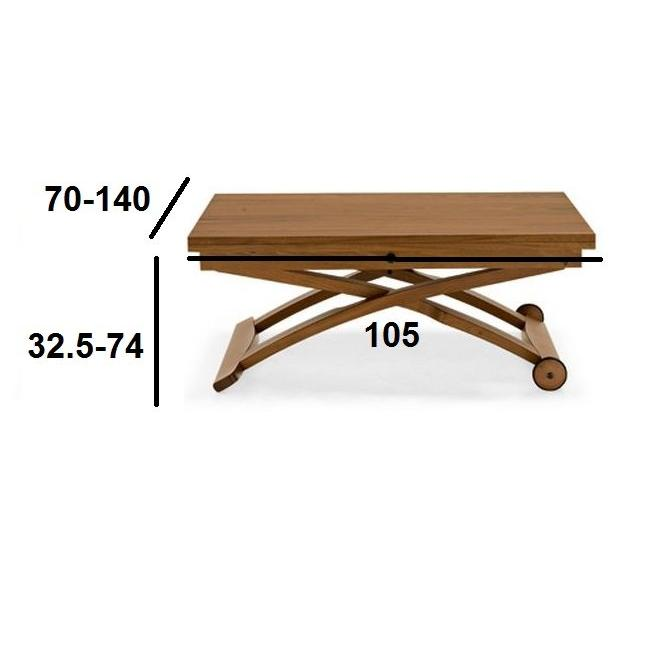 Table basse relevable italienne calligaris