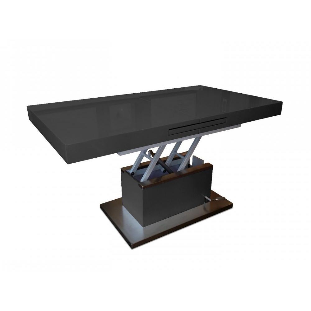 Table basse relevable pied noir
