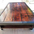 Plan de table basse en bois de palette