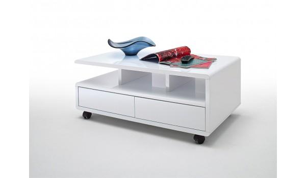 Table basse design sur roulettes