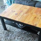 Table basse fait maison caisse en bois