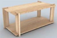 Table basse en bois plan