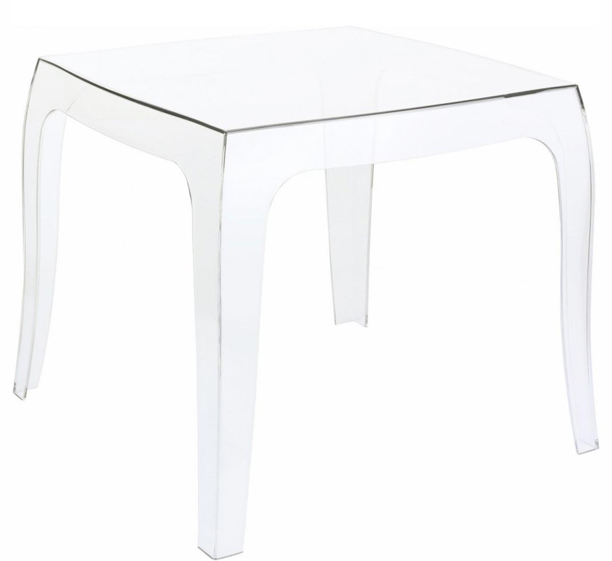 Table basse transparente et bois