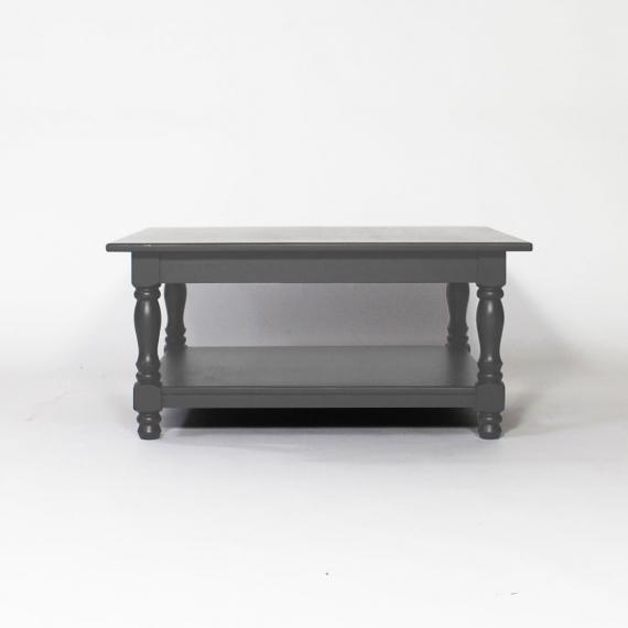 Table basse bois plateau gris