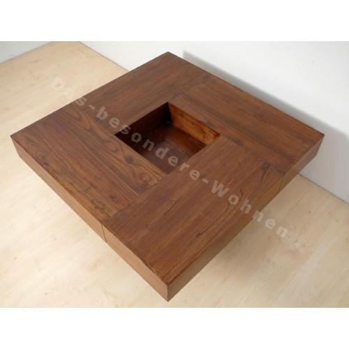 Table basse bois rangement