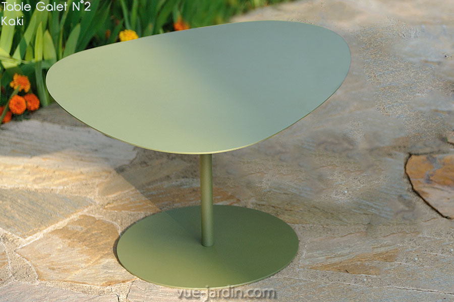 Table basse gigogne galet gris