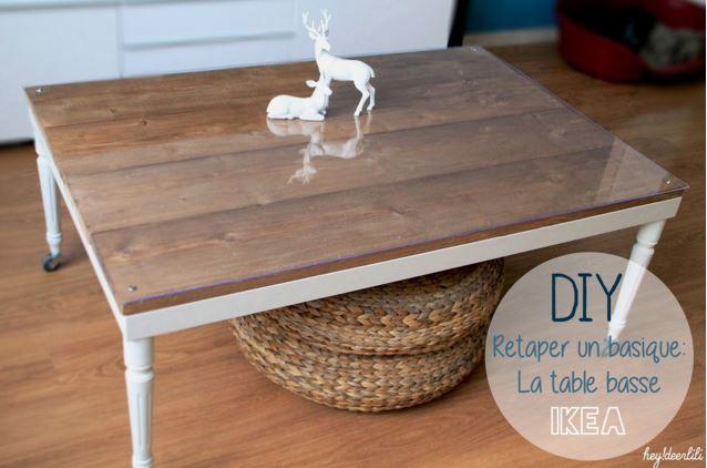 Repeindre table basse bois