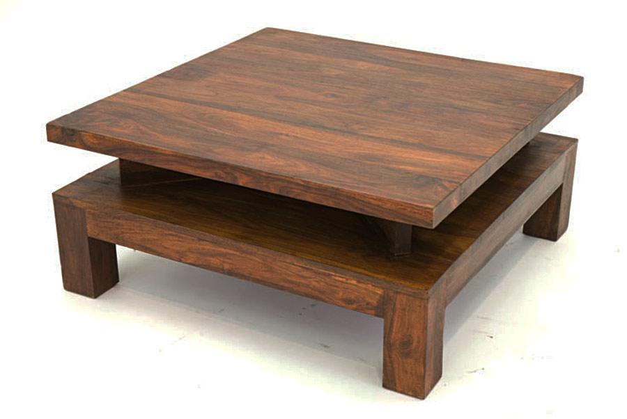 Table basse bois massif carré