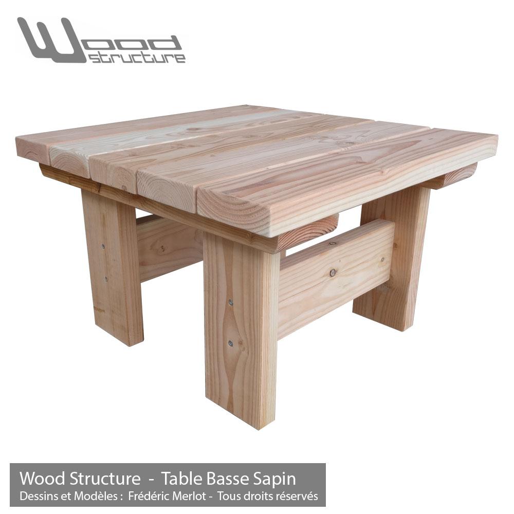 Table basse bois pour jardin