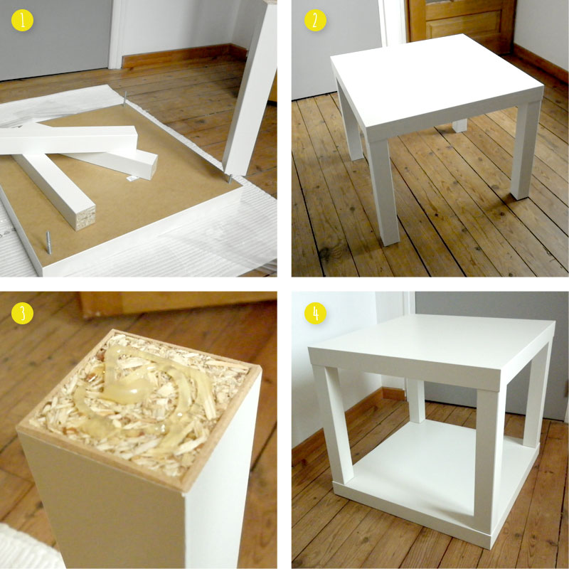 Personnaliser une table basse ikea