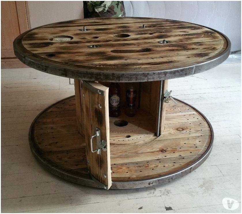 Touret bois en table basse