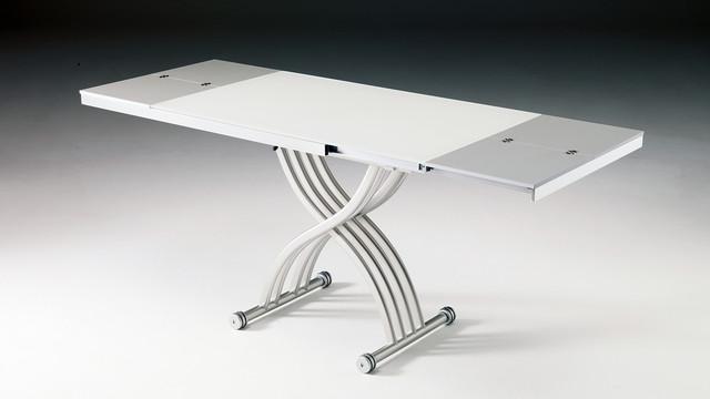 Table basse relevable sur verin