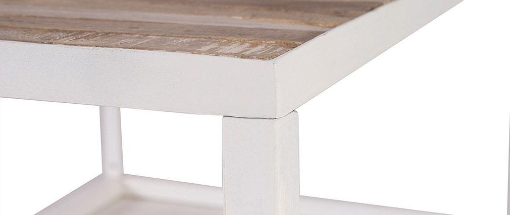 Table basse ovale verre et bois