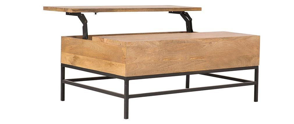Table basse relevable plan